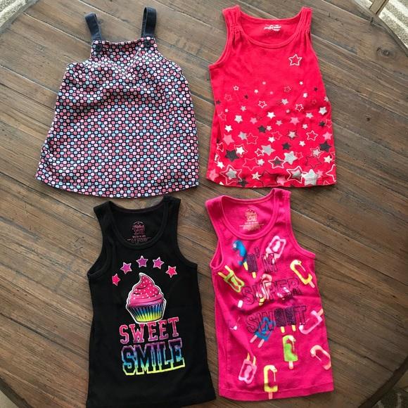 NWT Girl/'s Gymboree Butterfly Catcher yellow polka dot tank top shirt ~ 4 6